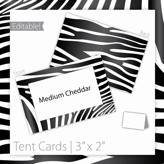 How to Print Tent Cards Luxury Items Similar to Animal Print Tent Cards Editable