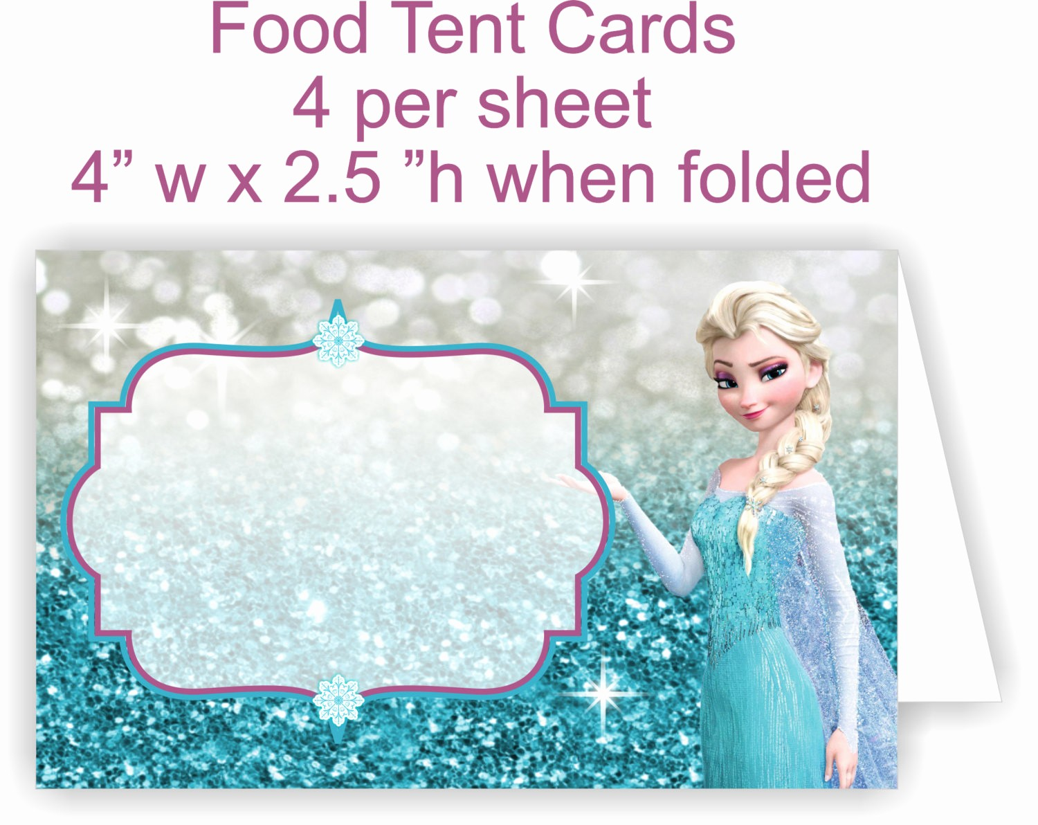 How to Print Tent Cards Luxury You Print Food Tent Cards Frozen Food Tent by Tagsruscanada
