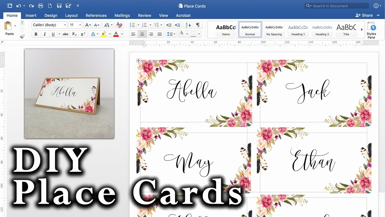 How to Print Tent Cards New How to Make A Table Tent Card In Word