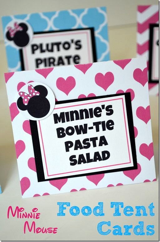 How to Print Tent Cards Unique Diy Minnie Mouse Birthday Food Tent Cards