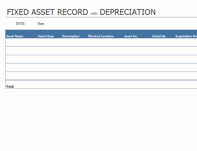 How to Record Fixed assets Elegant How to Record Fixed assets Evolist