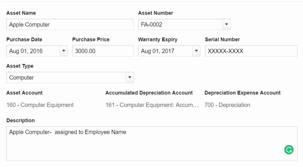 guide xero fixed assets