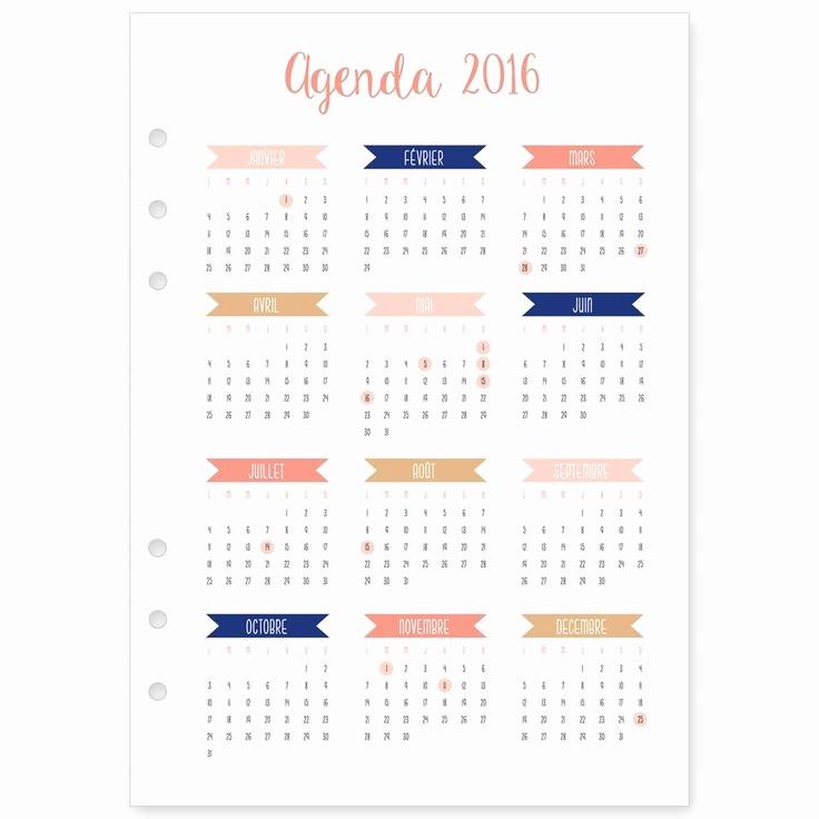 How to Type An Agenda Fresh Recharge 2016 Janvier à Décembre Pour Agenda Type