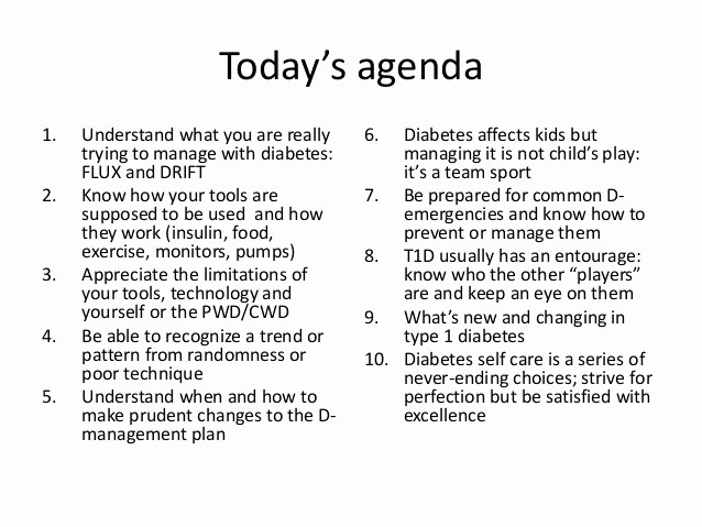 How to Type An Agenda Lovely 10 Practical Tips to Make Type 1 Diabetes Work for You Tlc