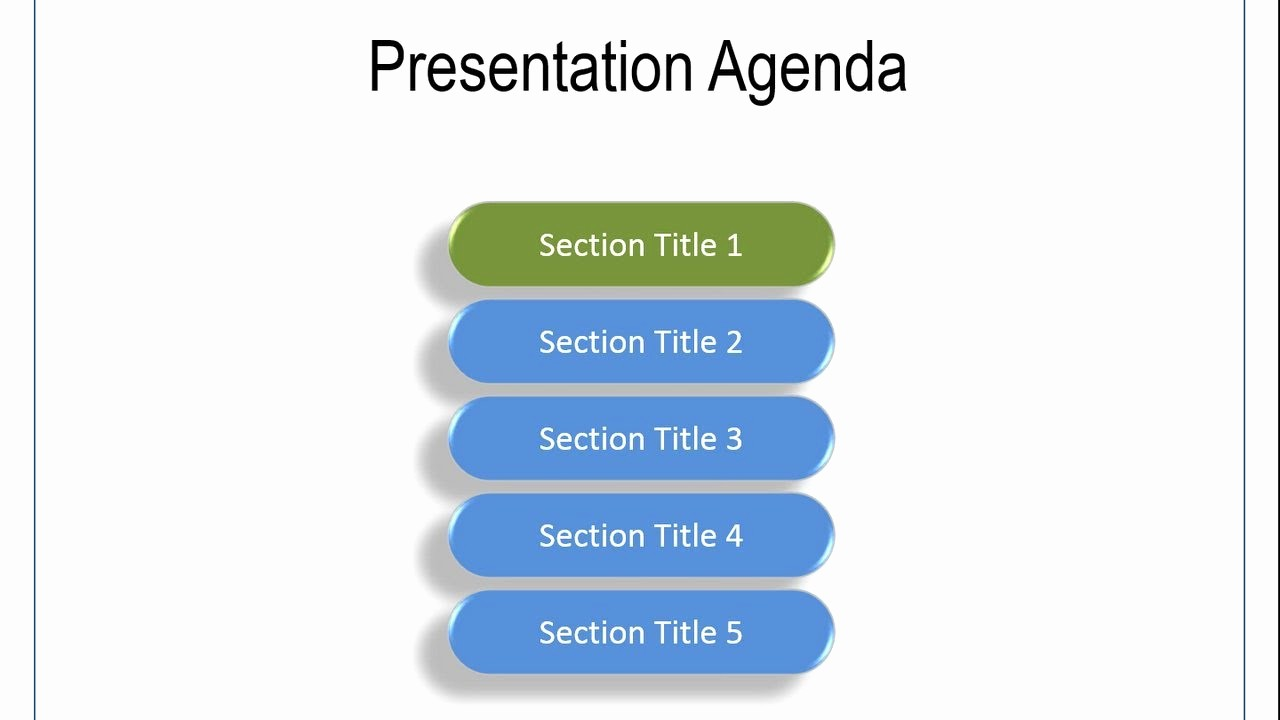 How to Type An Agenda New Animated Agenda Practical Powerpoint Animation Series