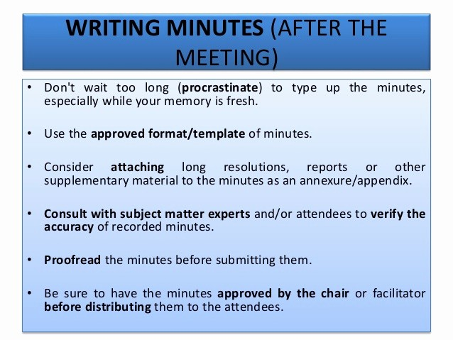 How to Type Up Minutes Elegant How to Type Up Minutes From A Meeting Template Baskan