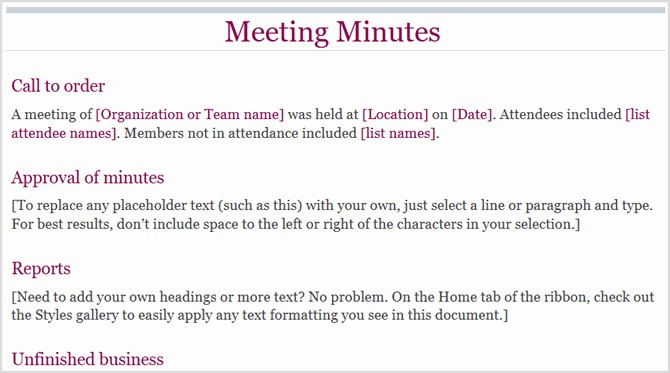How to Type Up Minutes Fresh 12 Best Meeting Minutes Templates for Professionals