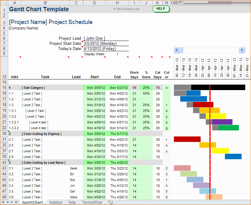How to Use Gantt Project Awesome 5 How to Create A Gantt Chart In Excel 2013
