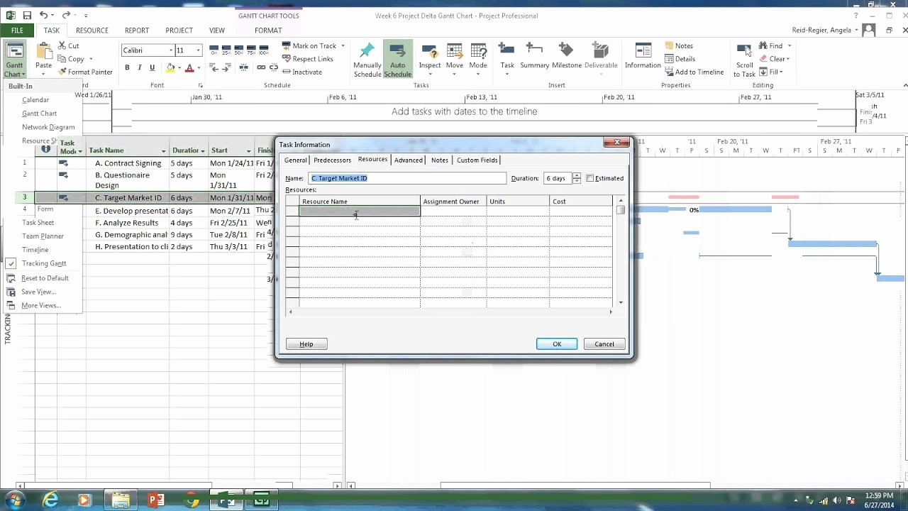 How to Use Gantt Project Elegant Tracking Gantt Chart assigning Resources and Lags In Ms
