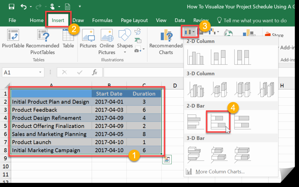 How to Use Gantt Project New Download Microsoft Excel Gantt Chart