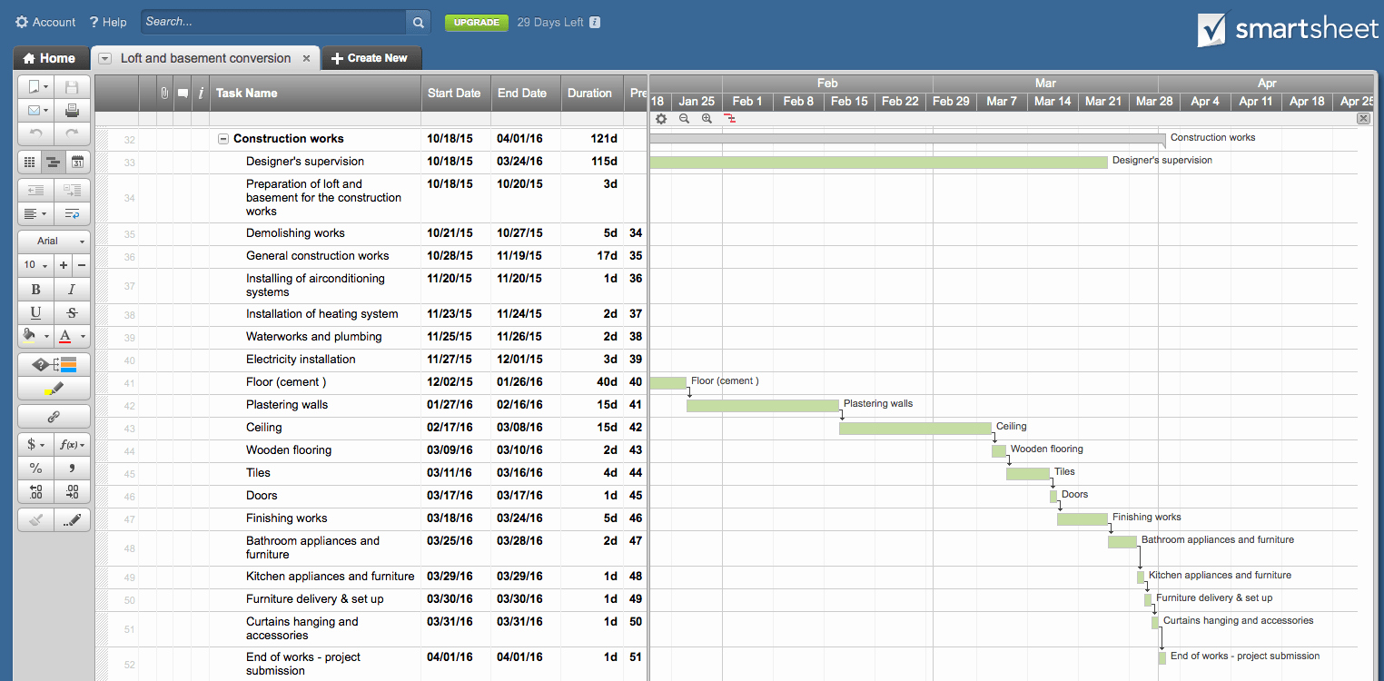 How to Use Gantt Project New How to Make Gantt Chart for Interior Design Project