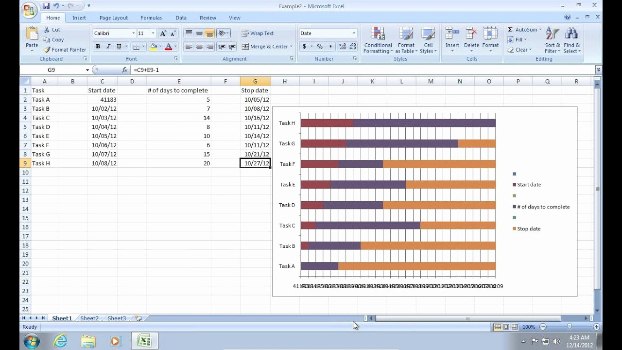 How to Use Gantt Project Unique How to Make Excel 2007 Gantt Chart
