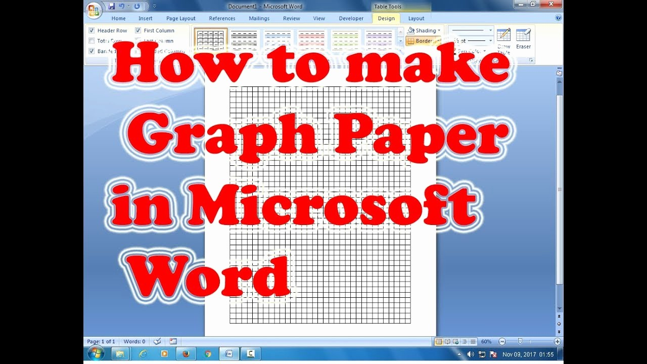 How to Use Graph Paper Beautiful How to Make Graph Paper In Microsoft Word