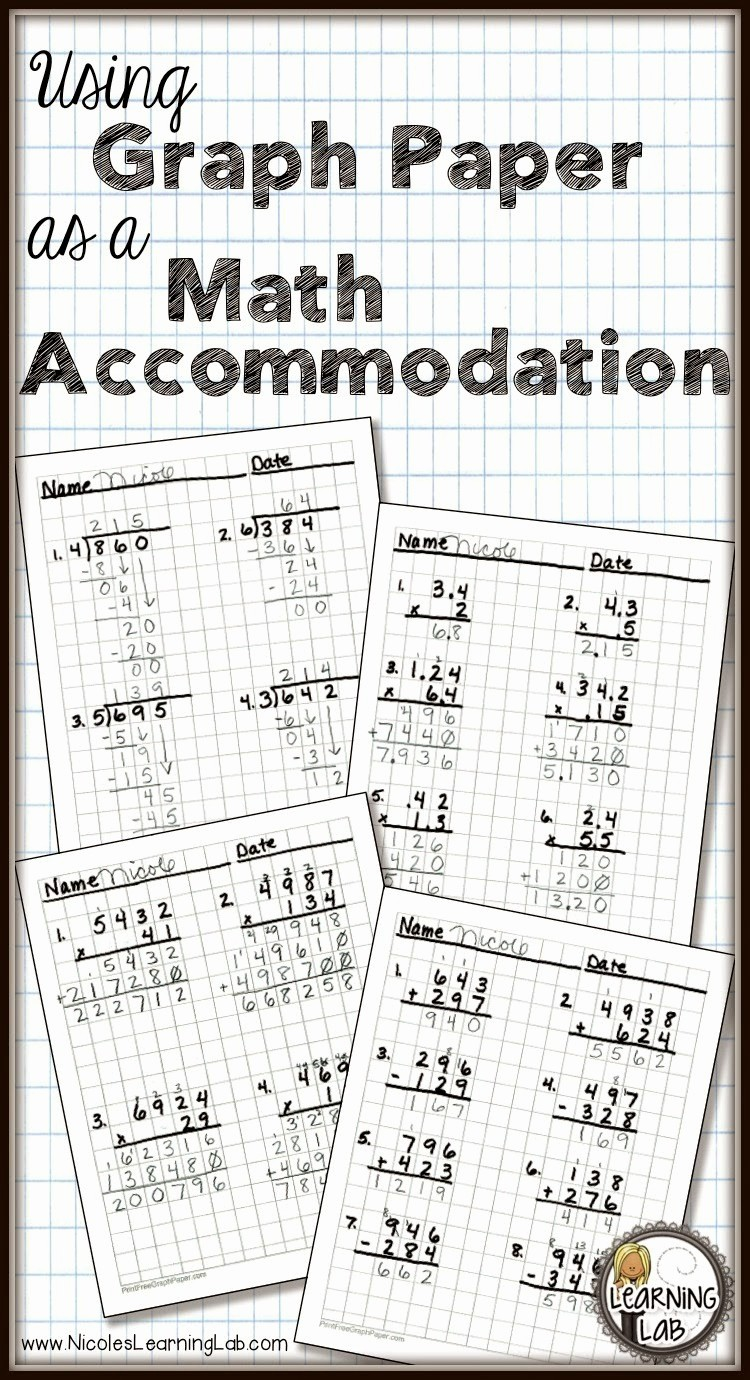 How to Use Graph Paper Inspirational Using Graph Paper as A Math Ac Modation