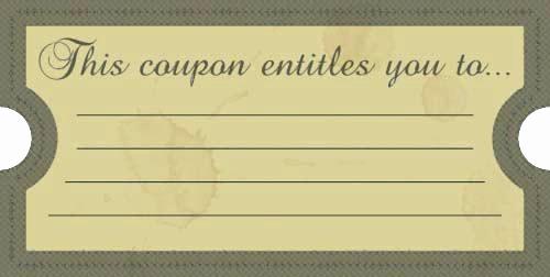 I Owe You Certificate Template Elegant I Owe You Coupon Template Free Fun Printable Coupons