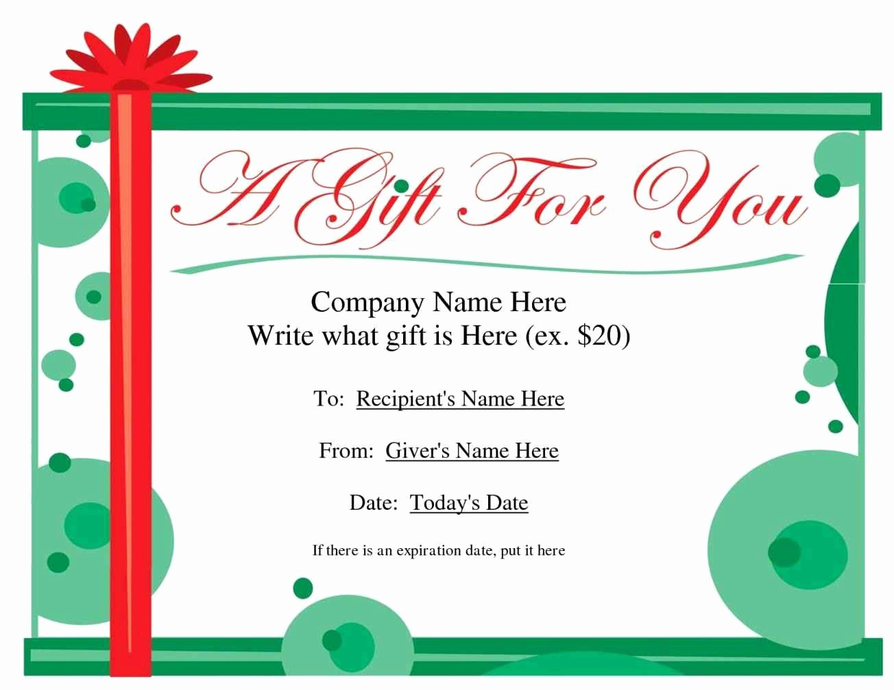 I Owe You Certificate Template Unique Create Your Own Gift Certificate Template Update234