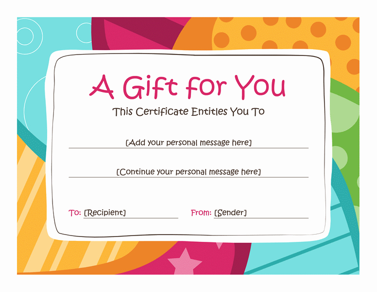 I Owe You Gift Certificate Beautiful I Owe You Template