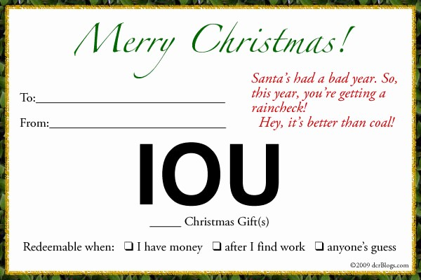 patience and iou christmas