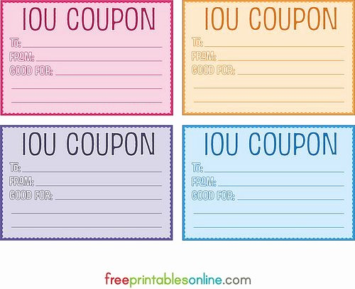 I Owe You Gift Certificate New 25 Best Ideas About Free Printable Gift Certificates On