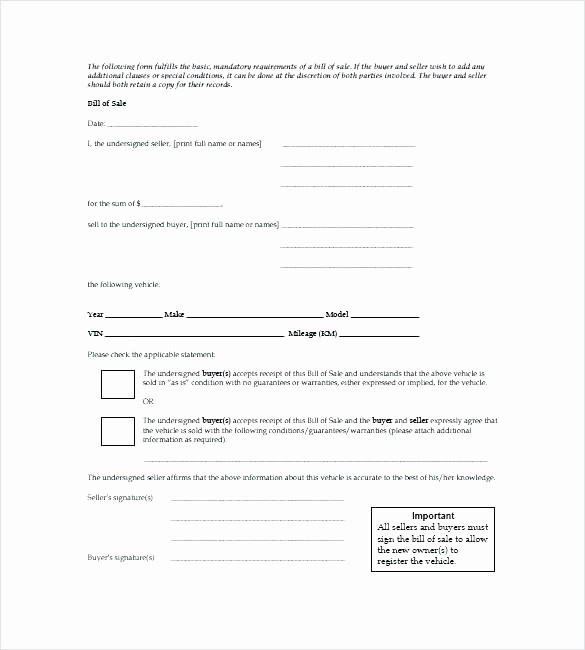 Illinois Dmv Bill Of Sale Beautiful Simple Bill Sale for Car Template Vehicle Receipt Basic