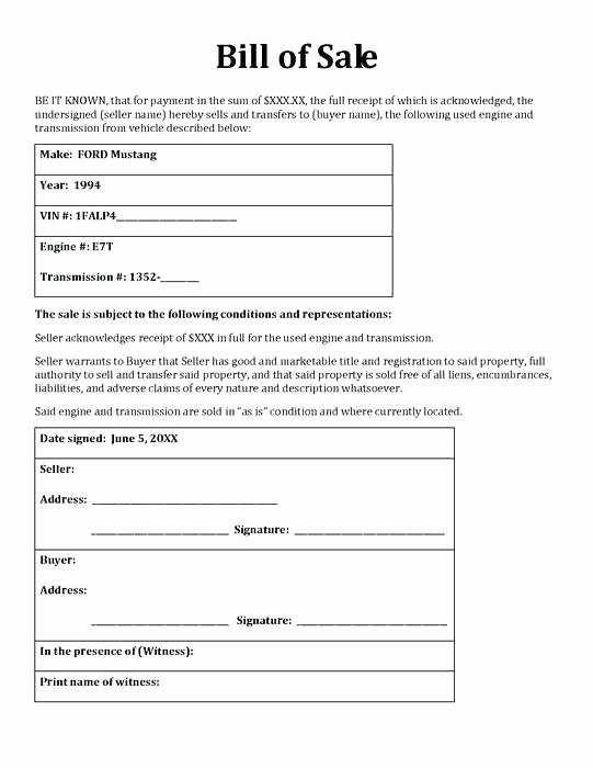 Illinois Vehicle Bill Of Sale Elegant Simple Bill Sale for Car Template Vehicle Receipt Basic