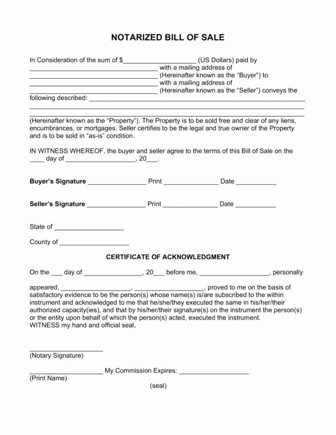 Illinois Vehicle Bill Of Sale New Sample Bill Sale Printable for Rv form forms and