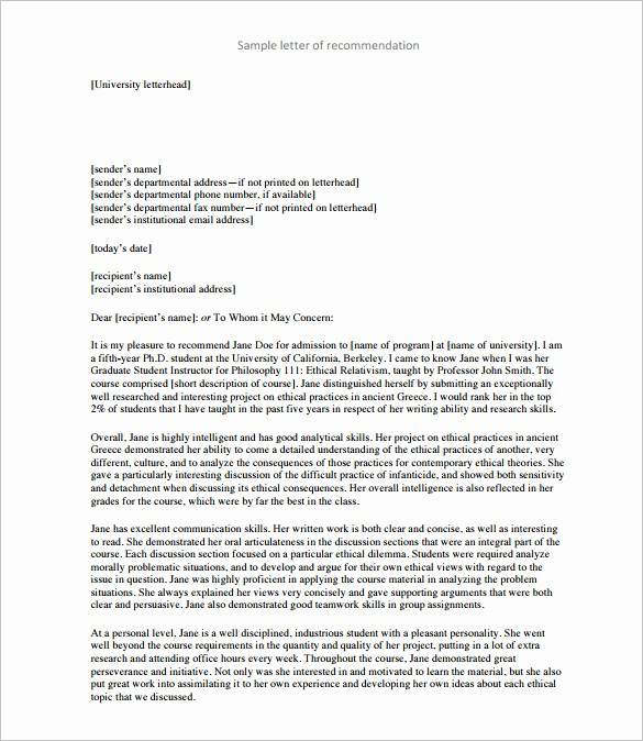 Images Of Letters Of Recommendation Fresh 28 Letters Of Re Mendation for Teacher Pdf Doc
