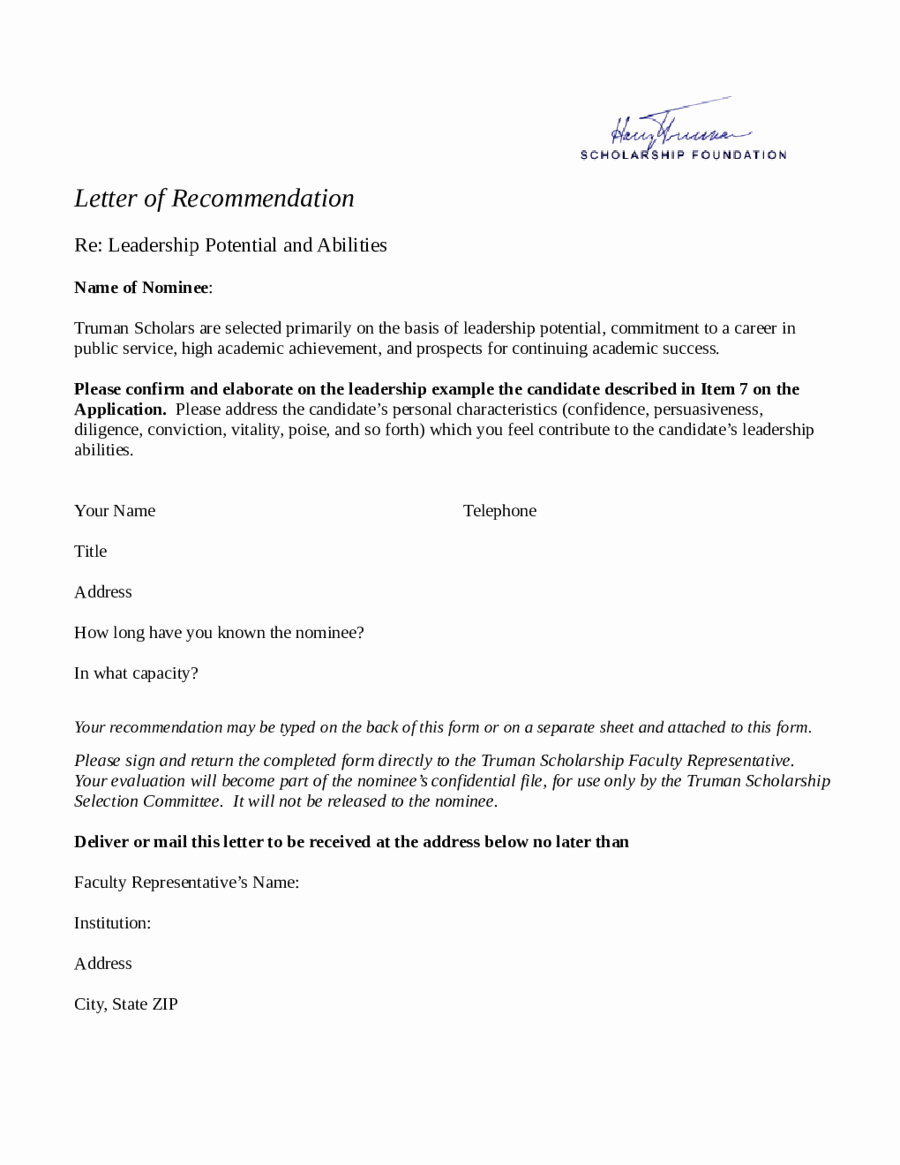 Images Of Letters Of Recommendation Unique 2018 Letter Of Re Mendation Sample Fillable Printable