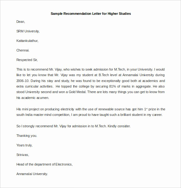 Images Of Letters Of Recommendation Unique 30 Re Mendation Letter Templates Pdf Doc