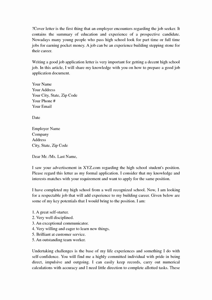 Images Of Resume Cover Letters Beautiful High School Resume Cover Letter Best Resume Collection