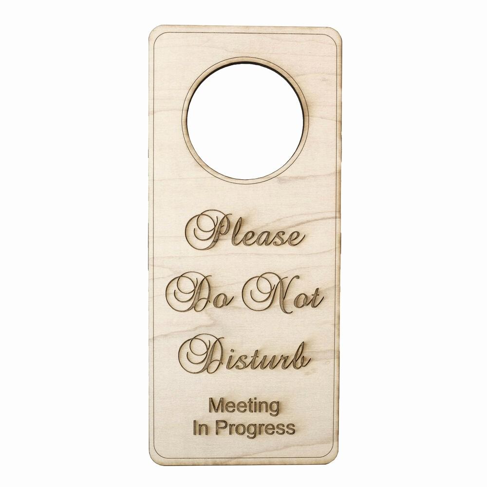 In A Meeting Door Sign Beautiful Please Do Not Disturb Meeting In Progress Door Sign Wood
