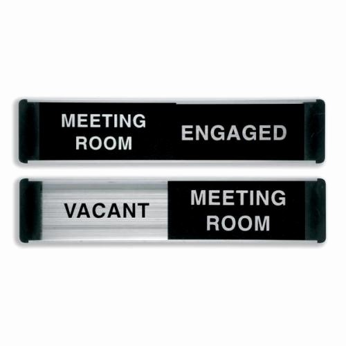 In A Meeting Door Sign Beautiful Sliding Door Sign Meeting Room Vacant Engaged Aluminium Ba101