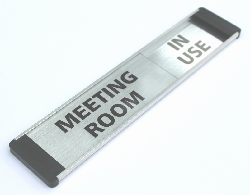 In A Meeting Door Sign Elegant Custom Meeting Room Sign