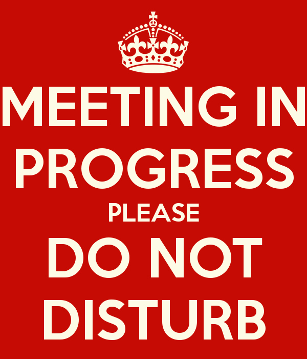 In A Meeting Door Sign Elegant Template for Meeting In Progress Do Not Disturb Door Sign