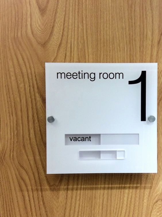 In A Meeting Door Sign Fresh Modern Acrylic Door Sign Office Signage Moderndesign