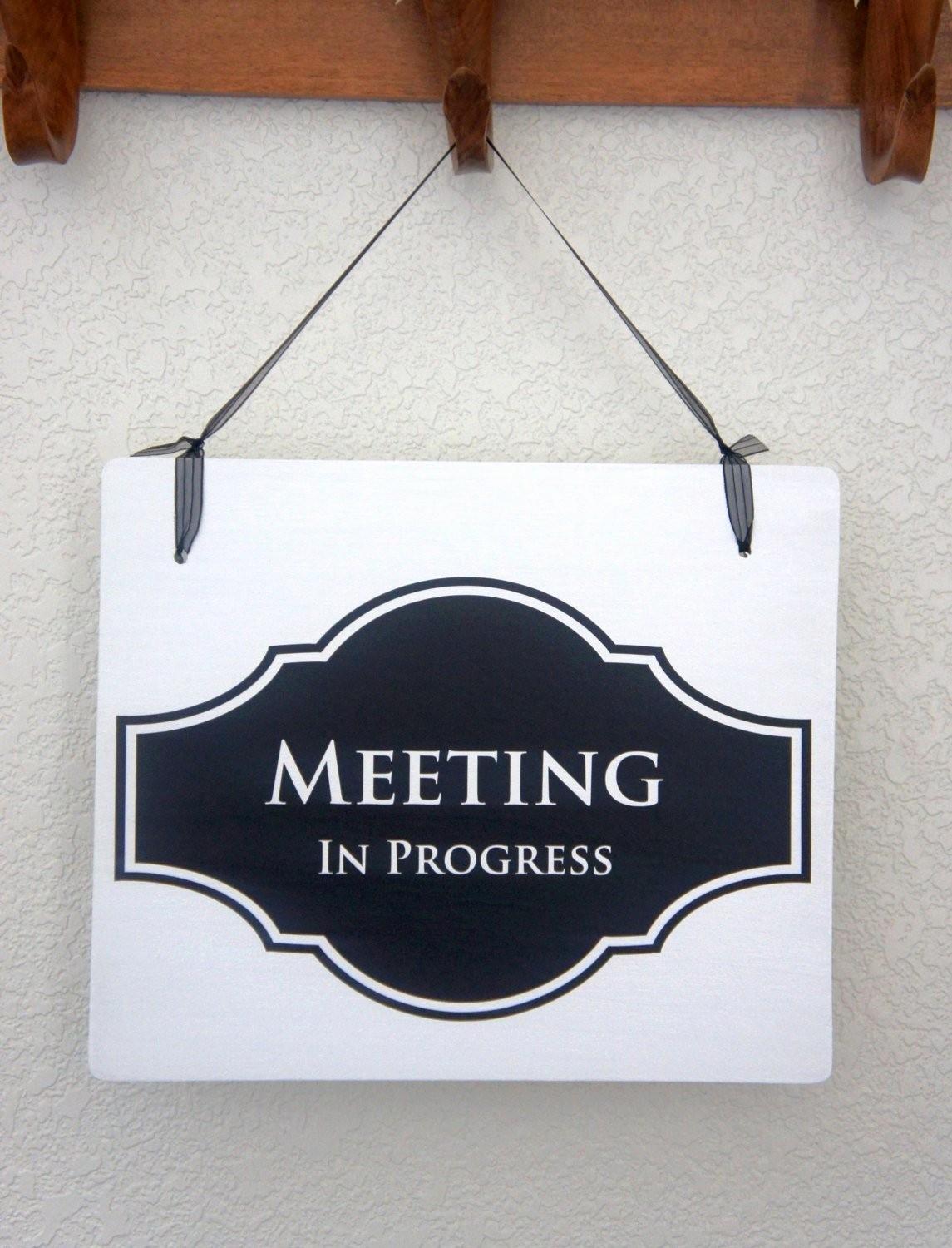In A Meeting Door Sign Inspirational Fice Door Sign Meeting In Progress Open Business Signage