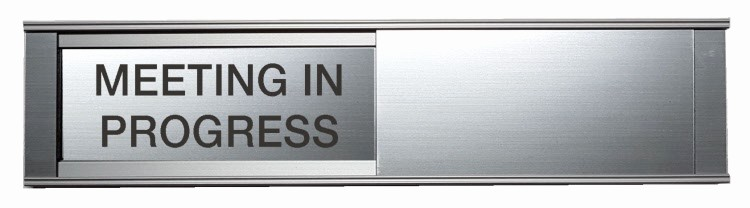 In A Meeting Door Sign Luxury Benchmark Engraving & Awards