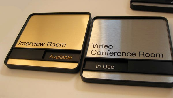In A Meeting Door Sign Luxury Conference Room Signs