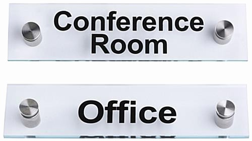 In A Meeting Door Sign Unique Custom Look Acrylic Standoff Signs