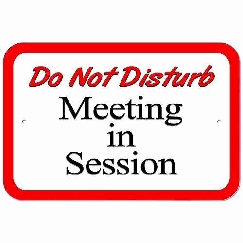 In A Meeting Door Sign Unique Meeting Sign Amazon