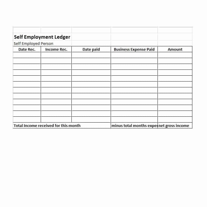 Income and Expense Ledger Template Awesome Number Line Worksheets Self Employment Worksheets In E