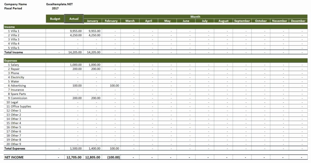 Income and Expense Ledger Template Beautiful Rental Property In E and Expenses