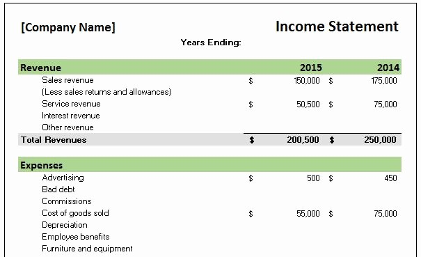 Income and Expense Report Template Elegant Free Accounting Templates In Excel