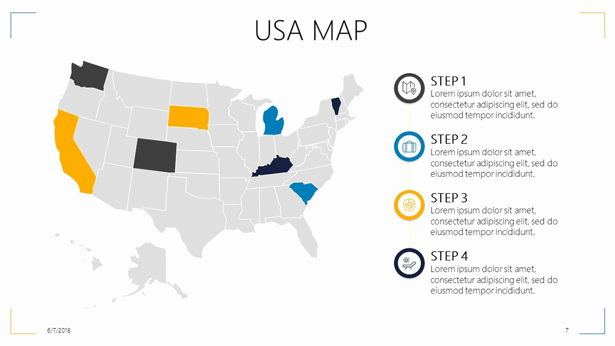 Interactive Map Of Usa Powerpoint Awesome Usa Map