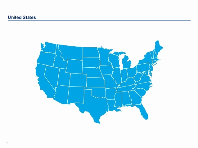 Interactive Map Of Usa Powerpoint Fresh Editable Us Maps In Powerpoint