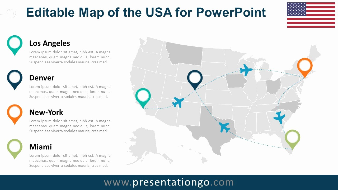 Interactive Map Of Usa Powerpoint Fresh Interactive Map Usa for Powerpoint – Xtgn