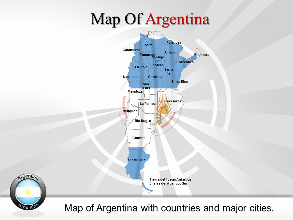 Interactive Map Of Usa Powerpoint Inspirational Map Argentina Argentina Powerpoint Map Interactive