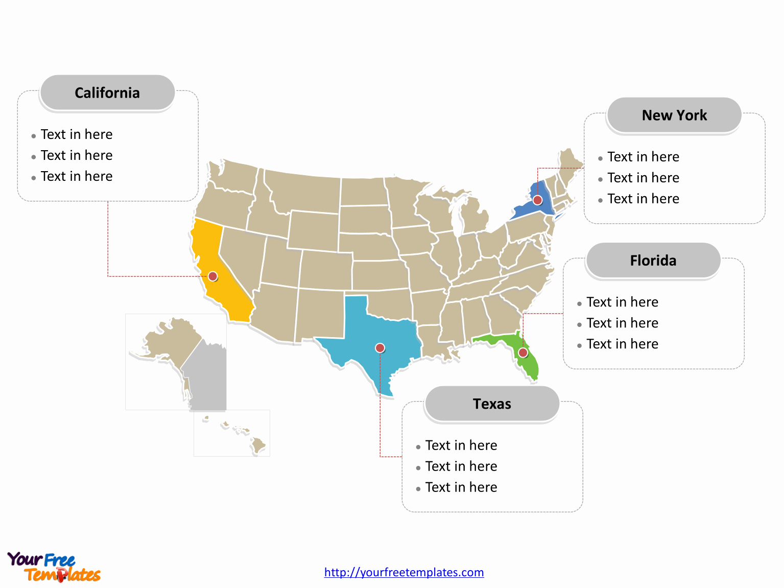 Interactive Map Of Usa Powerpoint Lovely Free Usa Powerpoint Map Free Powerpoint Templates