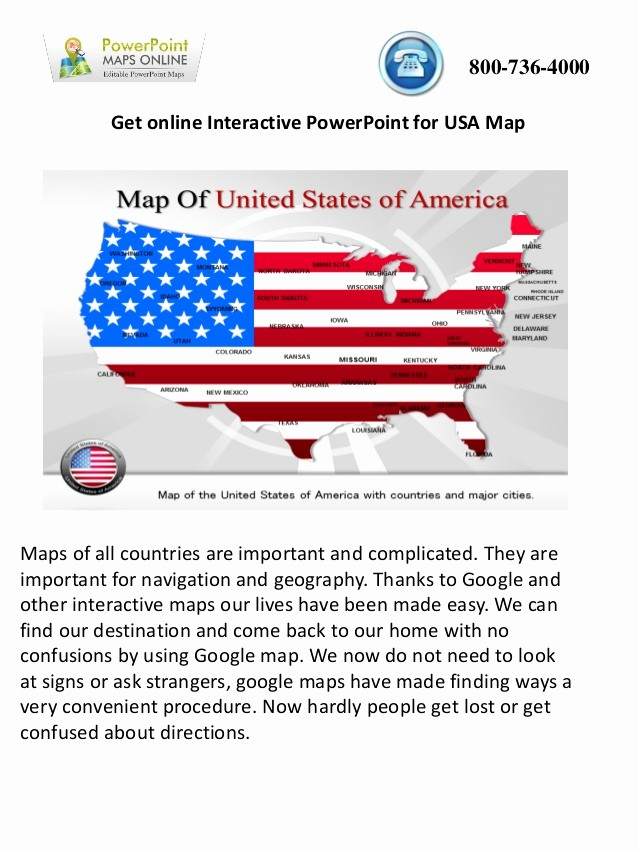 Interactive Map Of Usa Powerpoint New Get Online Interactive Powerpoint for Usa Map