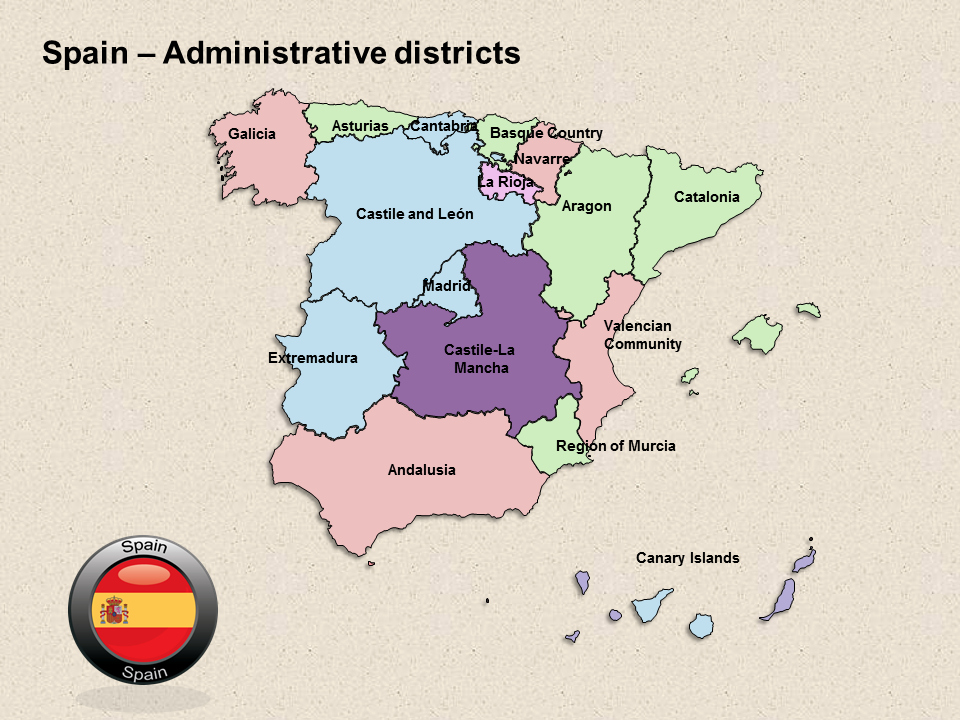 Interactive Us Maps for Powerpoint Awesome Interactive Spain Ppt Maps Editable Powerpoint Maps